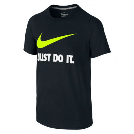 Nike Winter Just Do It T-shirt nero Bambino