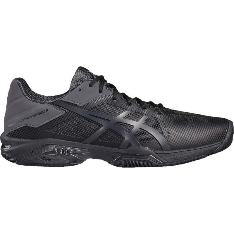 Asics Gel-Solution Speed 3 Clay Nero-Grigio Scuro Uomo 1