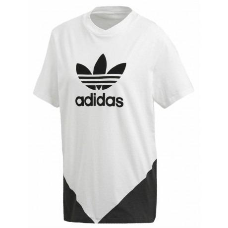 Adidas Cllrdo T-Shirt Bianco-Nero Donna