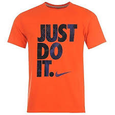 Nike T-Shirt Just Do It Arancione Bambino
