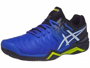 Asics Gel-Resolution 7 Clay Black-Yellow Uomo