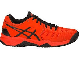 Asics Gel-Resolution GS Red-Black Clay Junior