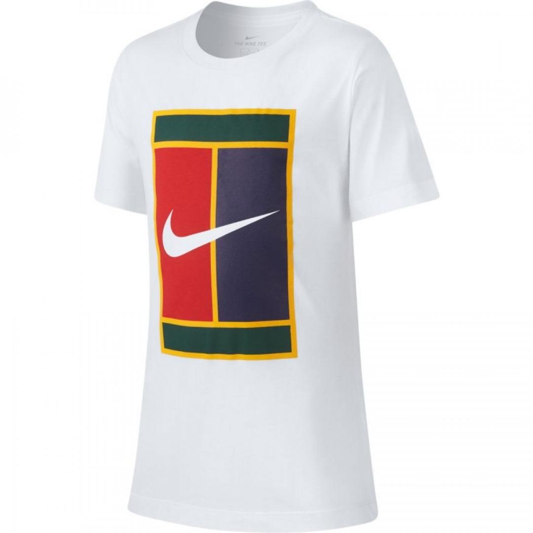 Nike T-Shirt Court Heritage Bianca Bambino 1