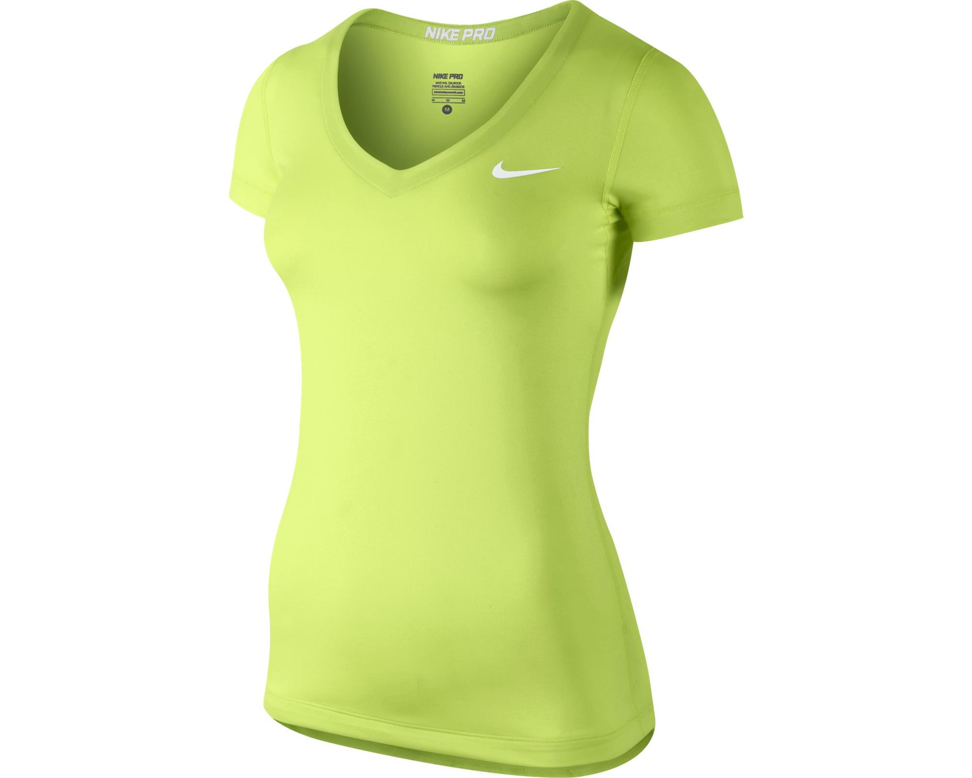 Nike Spring Pro SS Top Giallo Fluo Donna 1
