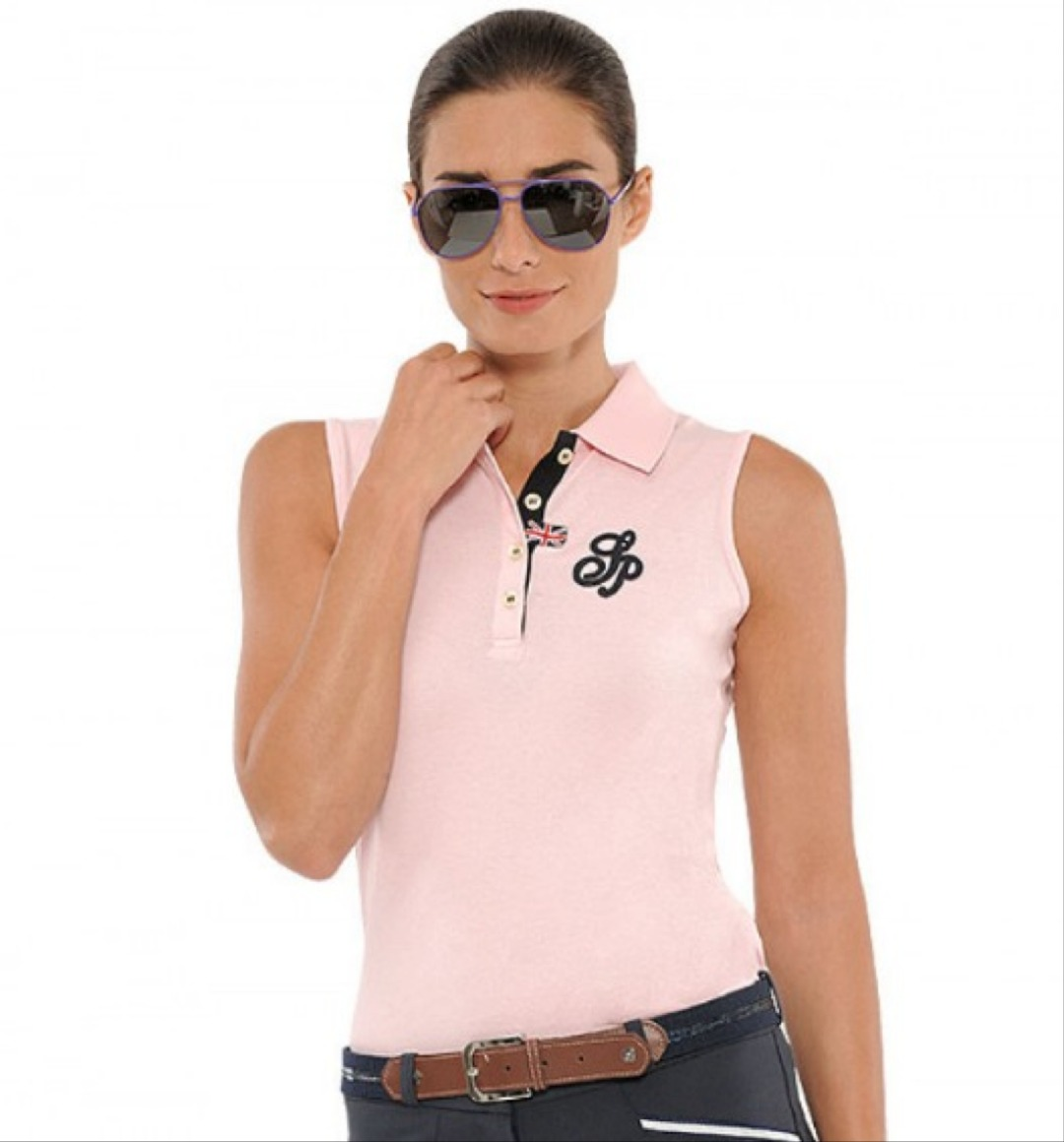 Spooks Mara Polo Seeveless Rosa 1