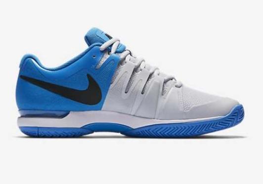 Nike Zoom Vapor 9.5 Tour Clay Grigio-Blu Junior