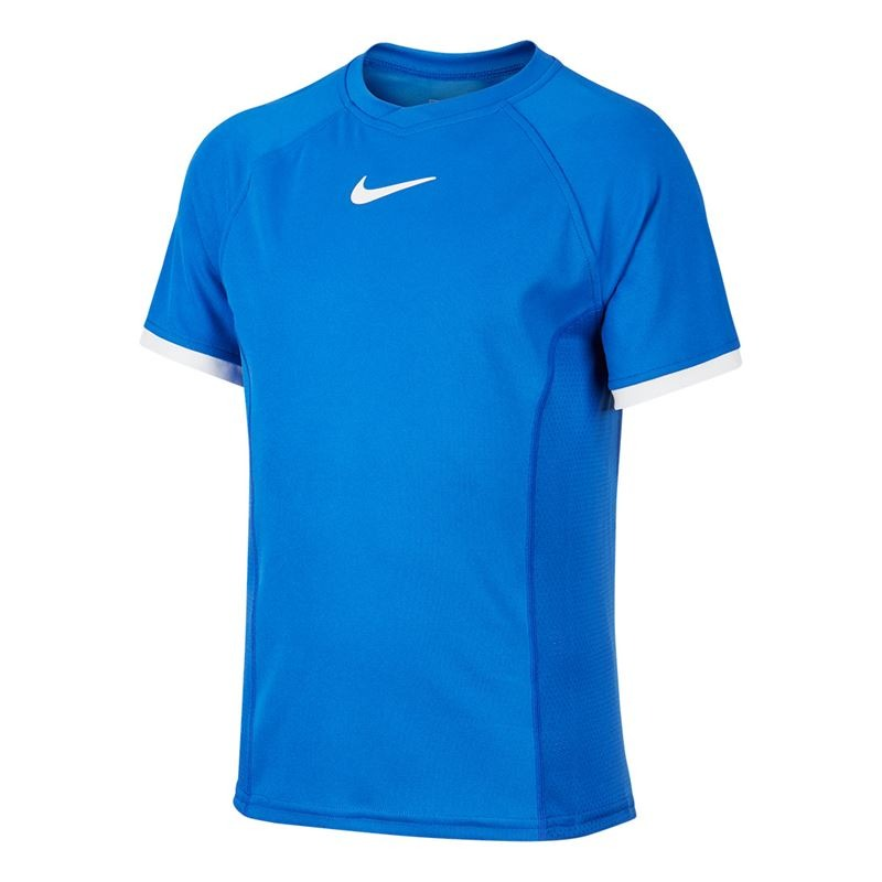 Nike Basic Dry Crew T-Shirt Blue Bambino