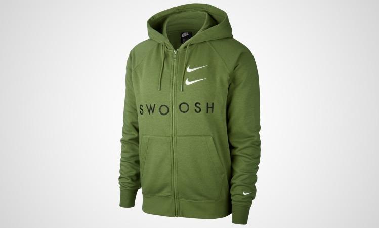 Nike Hoodie con Zip Sportswear Swoosh Verde Uomo 1
