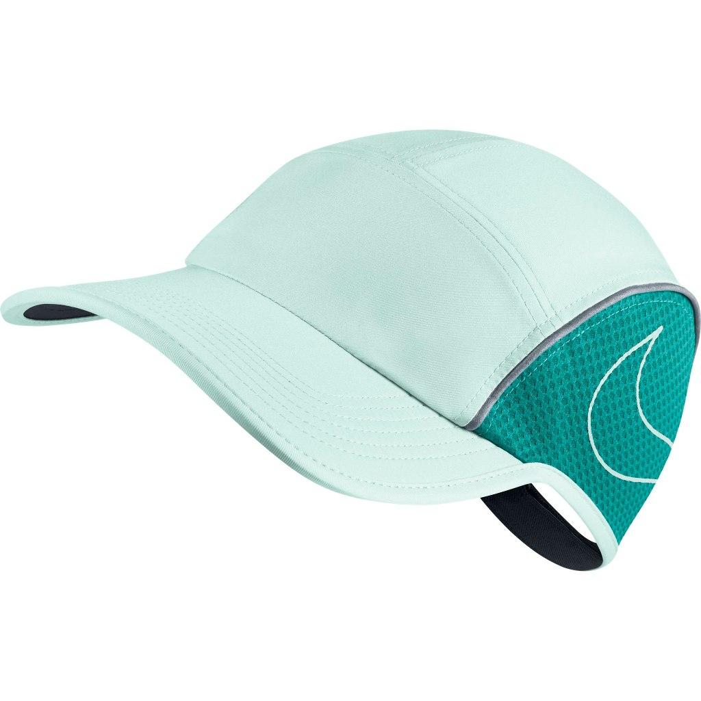 Nike Aerobill Cappello Running Verde Acqua Donna