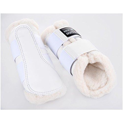 HKM Sport Equipment Gamaschen Comfort Lack Bianco