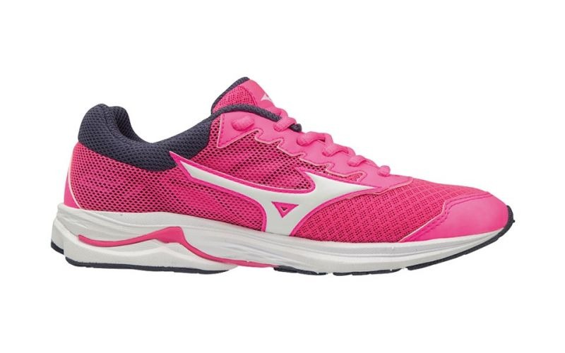 Mizuno Wave Rider 21 Rosa-Bianco Junior