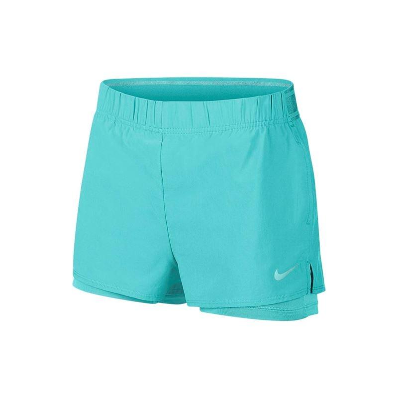 Nike Court Flex Shorts Turchese Donna 1