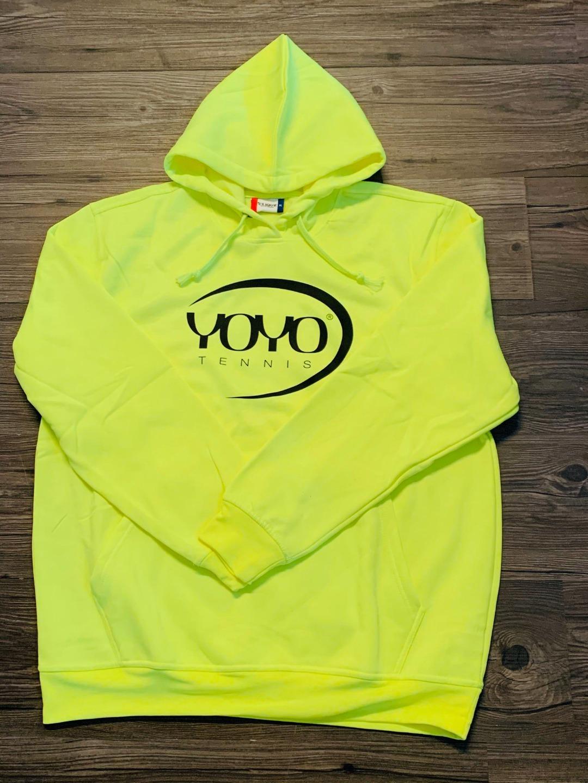 YOYO-TENNIS Hoody Giallo con Logo Nero