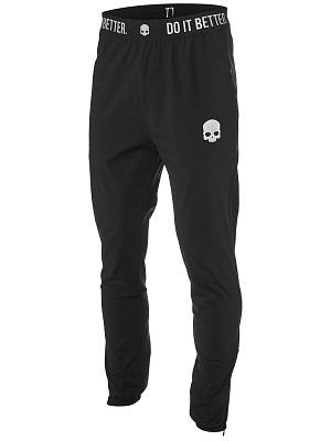 Hydrogen Tech Skull Pants Black Uomo 1