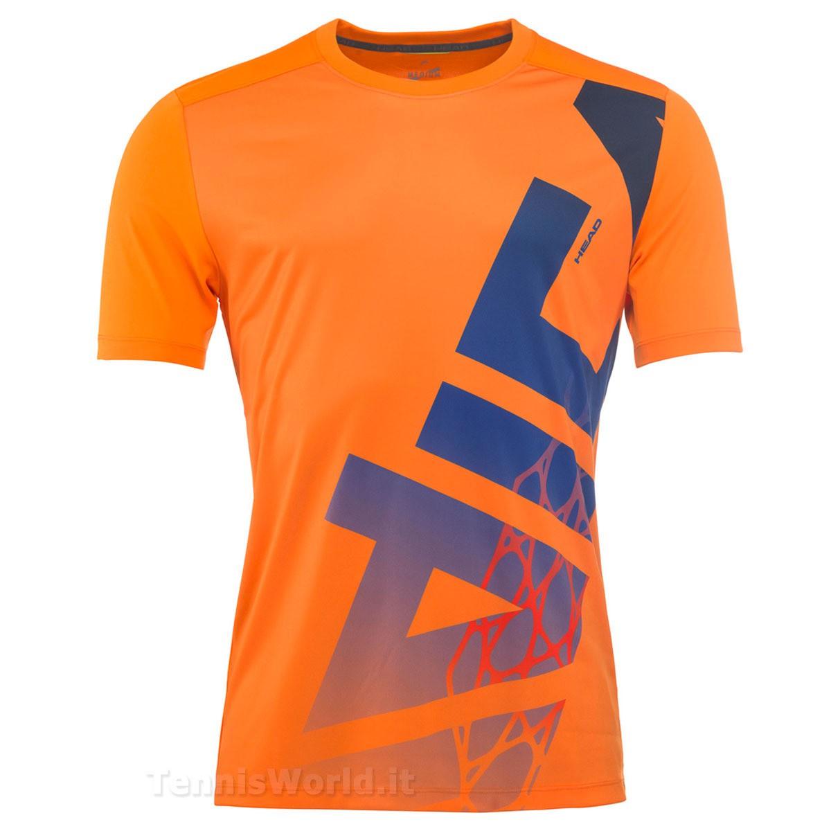 Head Vision Radical T-Shirt Arancione Uomo