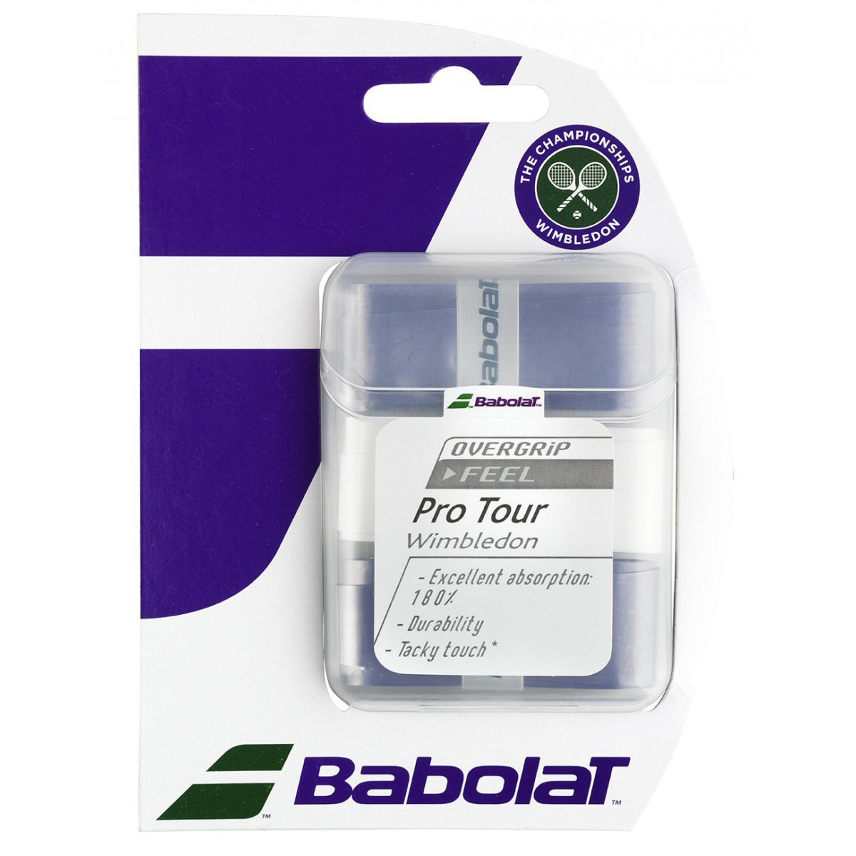 Babolat Pro Tour Wimbledon Bianco-Viola (3x) 1