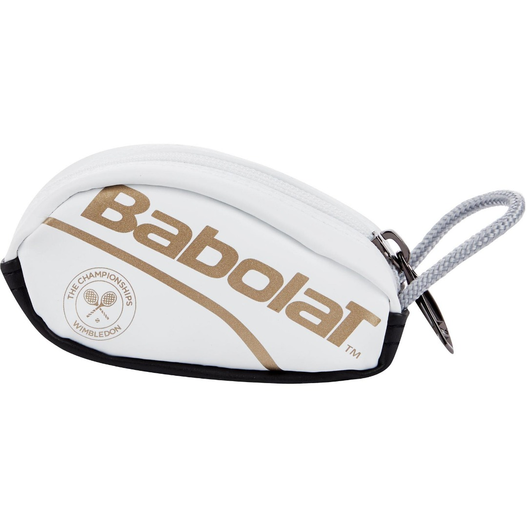 Babolat Key Ring Wimbledon White Gold