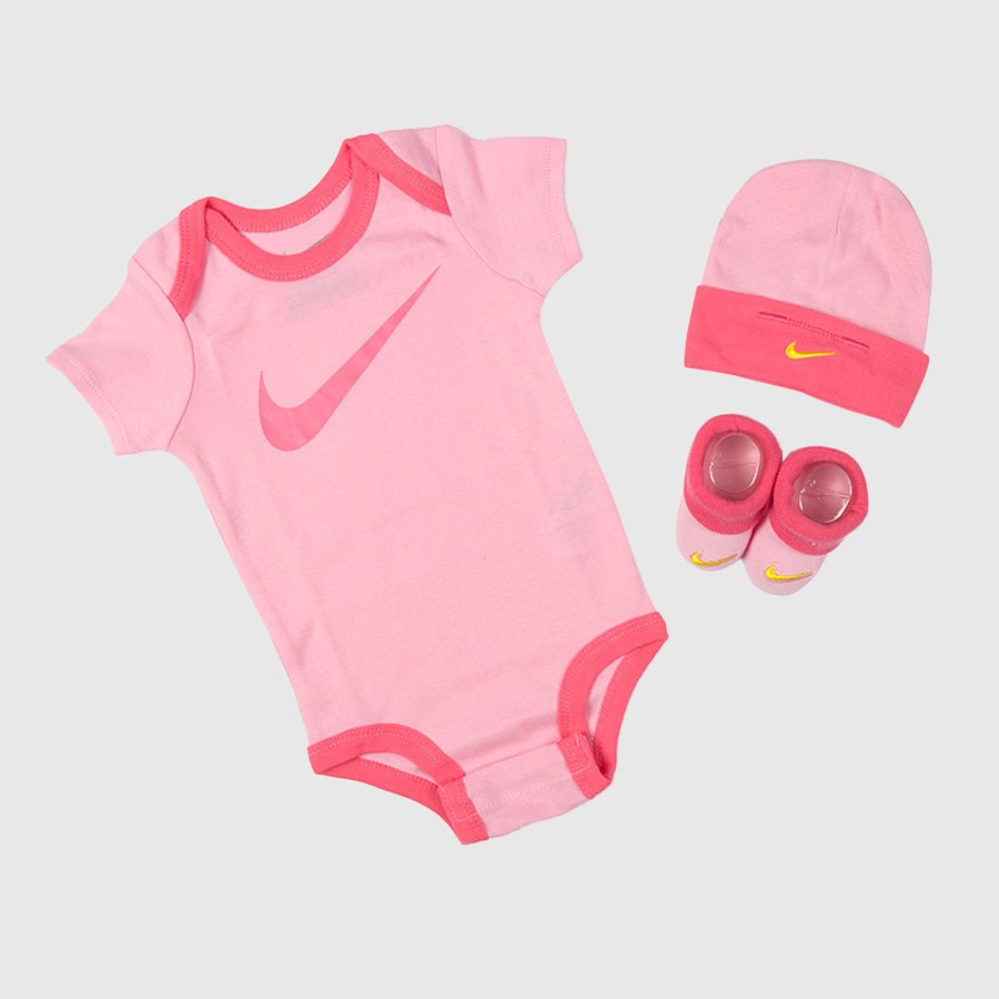 Nike 3 Piece Infant Set 3 Pink 1
