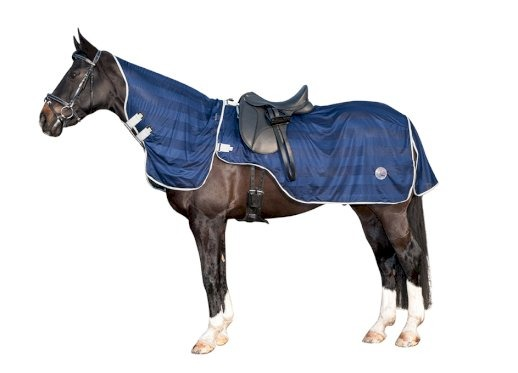 HKM Ride-On fly sheet with removable neck navy