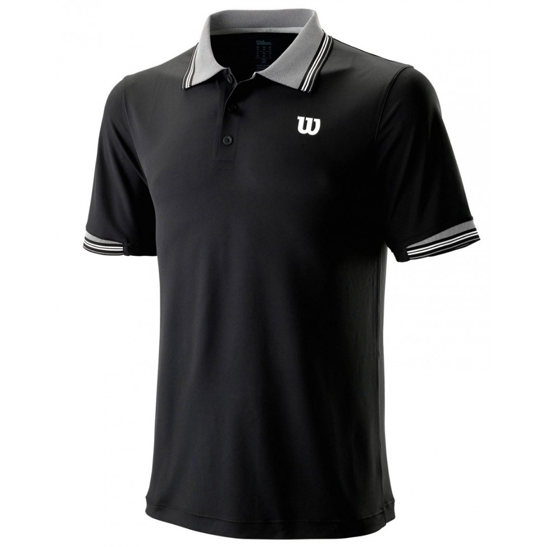 Wilson Star Tipped Polo Nero