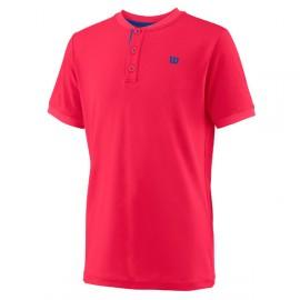 Wilson UWII Henley Polo Shirt Neon Rosso Bambino 1