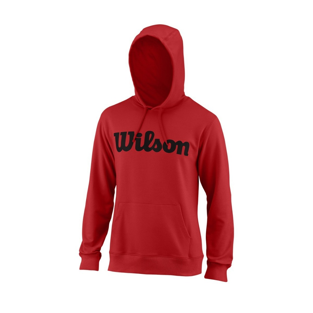 Wilson Script Cotton Hoodie Rosso Uomo 1