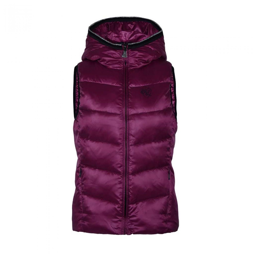 Kingsland Luc Body Warmer Hood Pink Donna