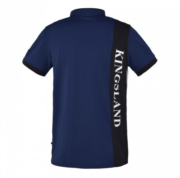 Kingsland Brunswick Tec Pique Polo Shirt Blu Uomo 1