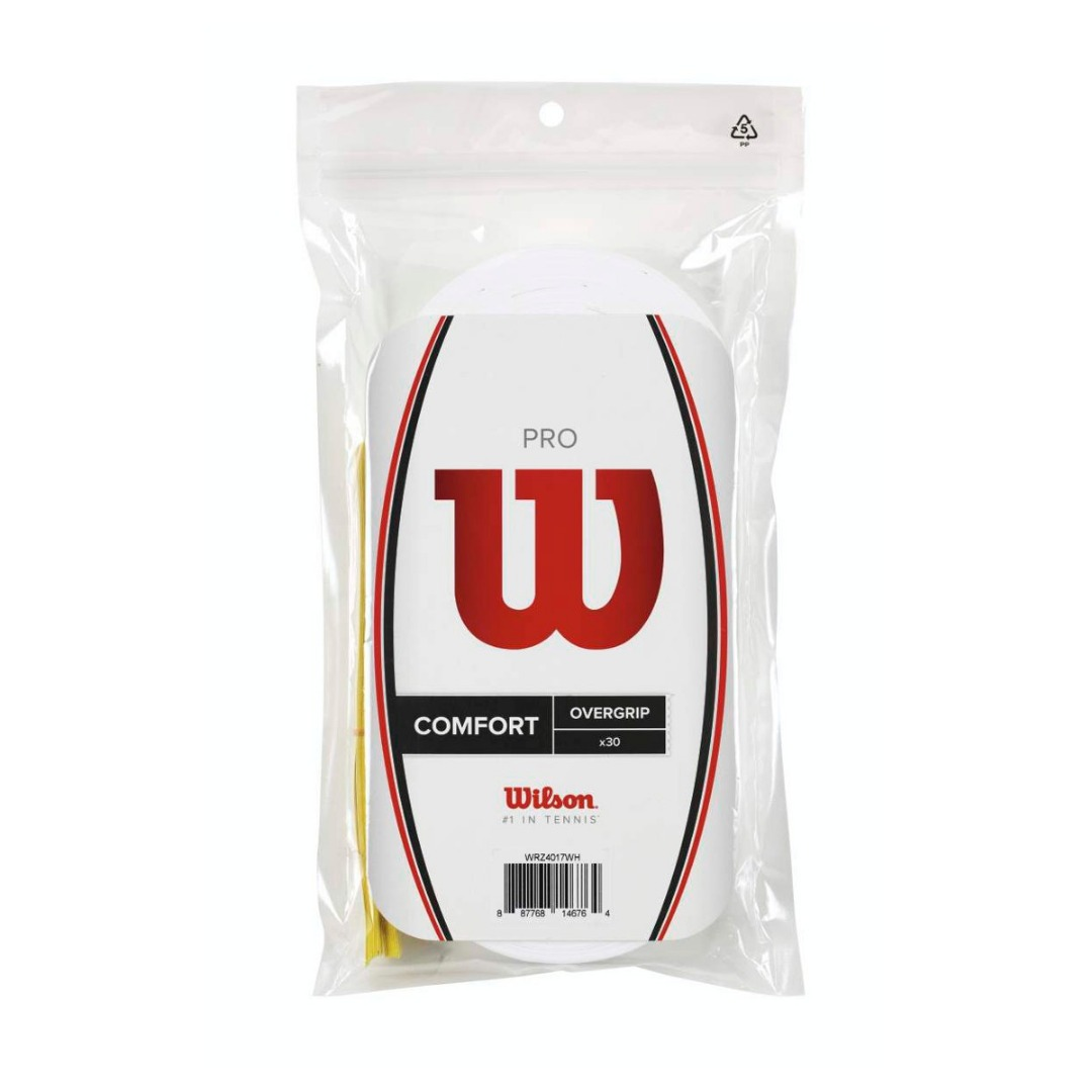WIlson Pro Overgrip Bianco (30x) 1