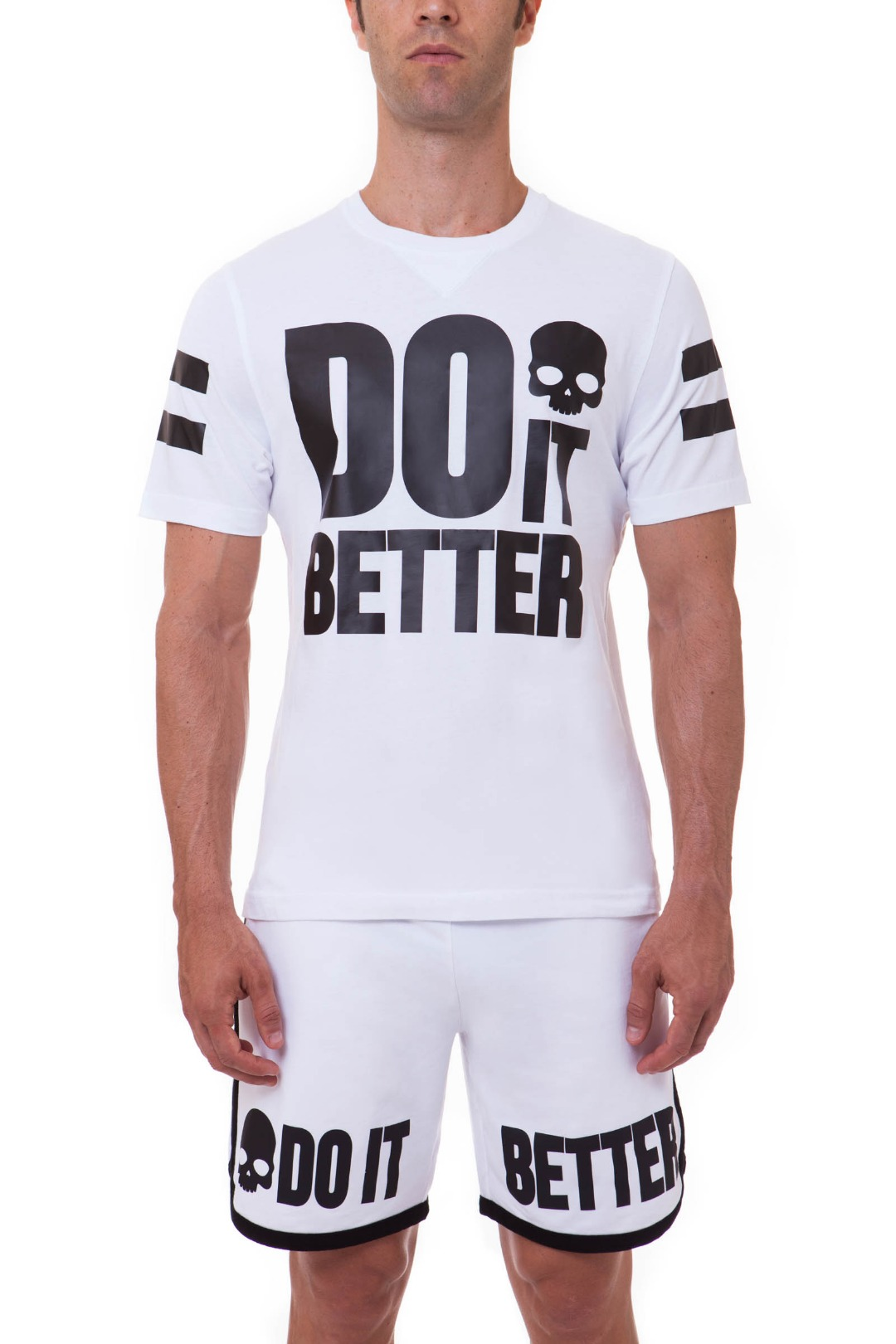 Hydrogen T-Shirt Do It Better Bianco Uomo