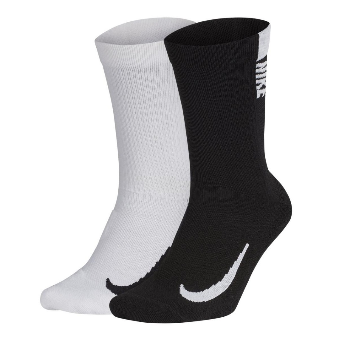 Nike Multipler Calze Bianche-Nere (2x)