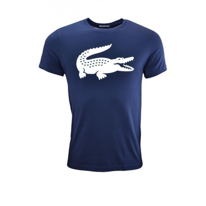 Lacoste Maglietta Blu-Bianca Uomo