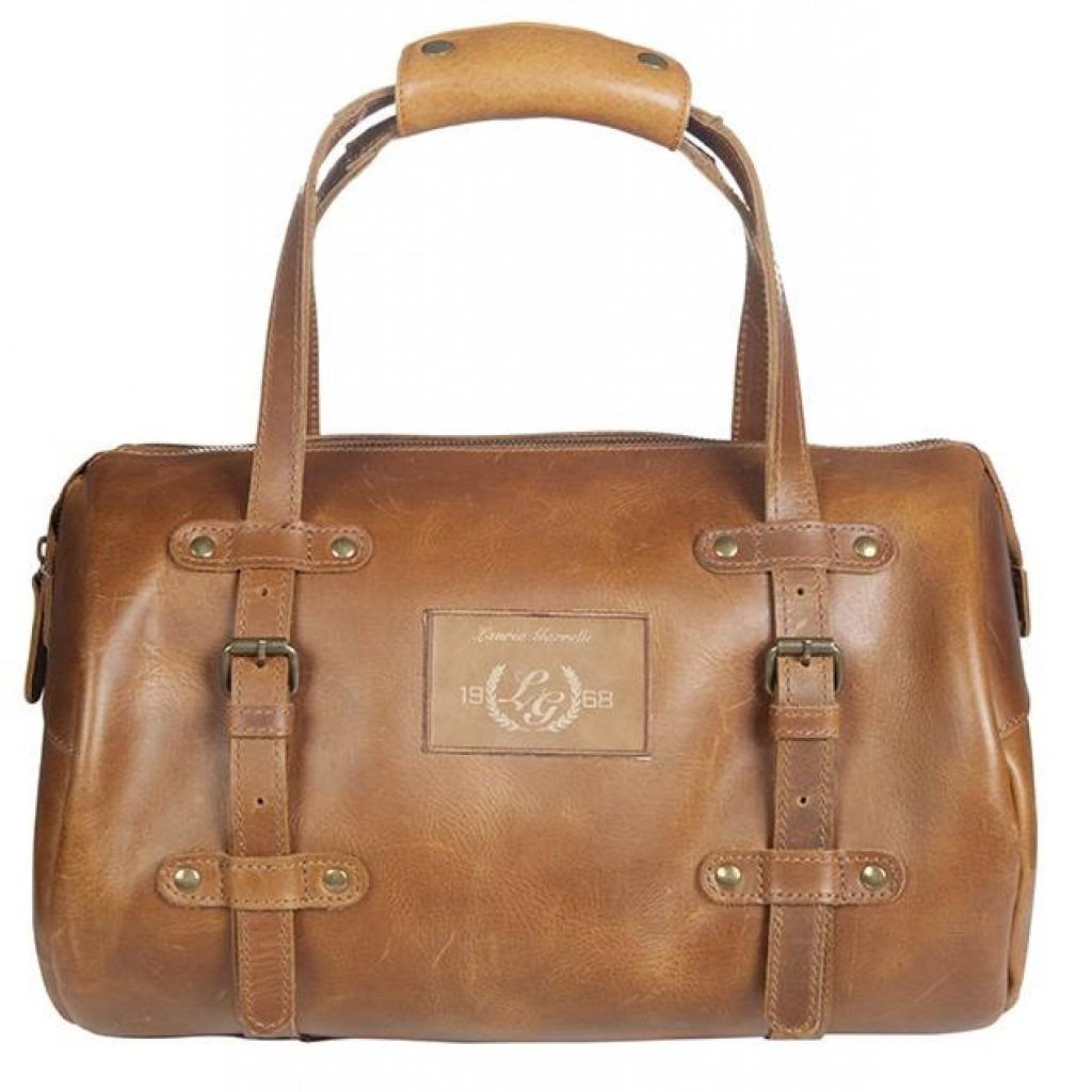 HKM Bag Santa Rosa cuoio vero 38x24 cm