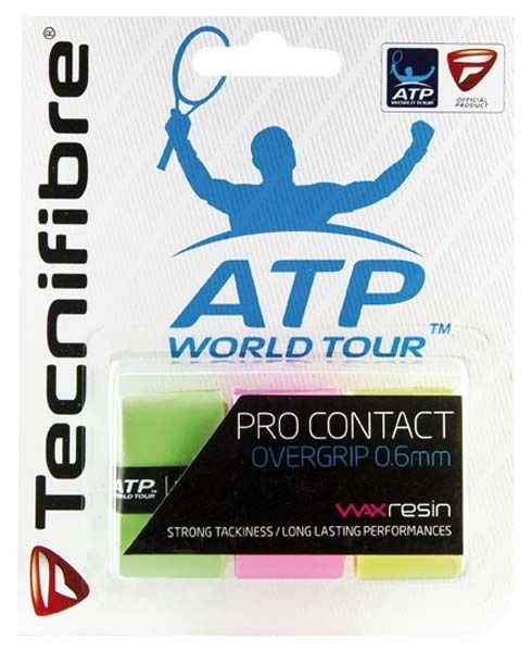 Tecnifibre Overgrip Pro Contact Verde Pink Giallo(3x) 0.6mm