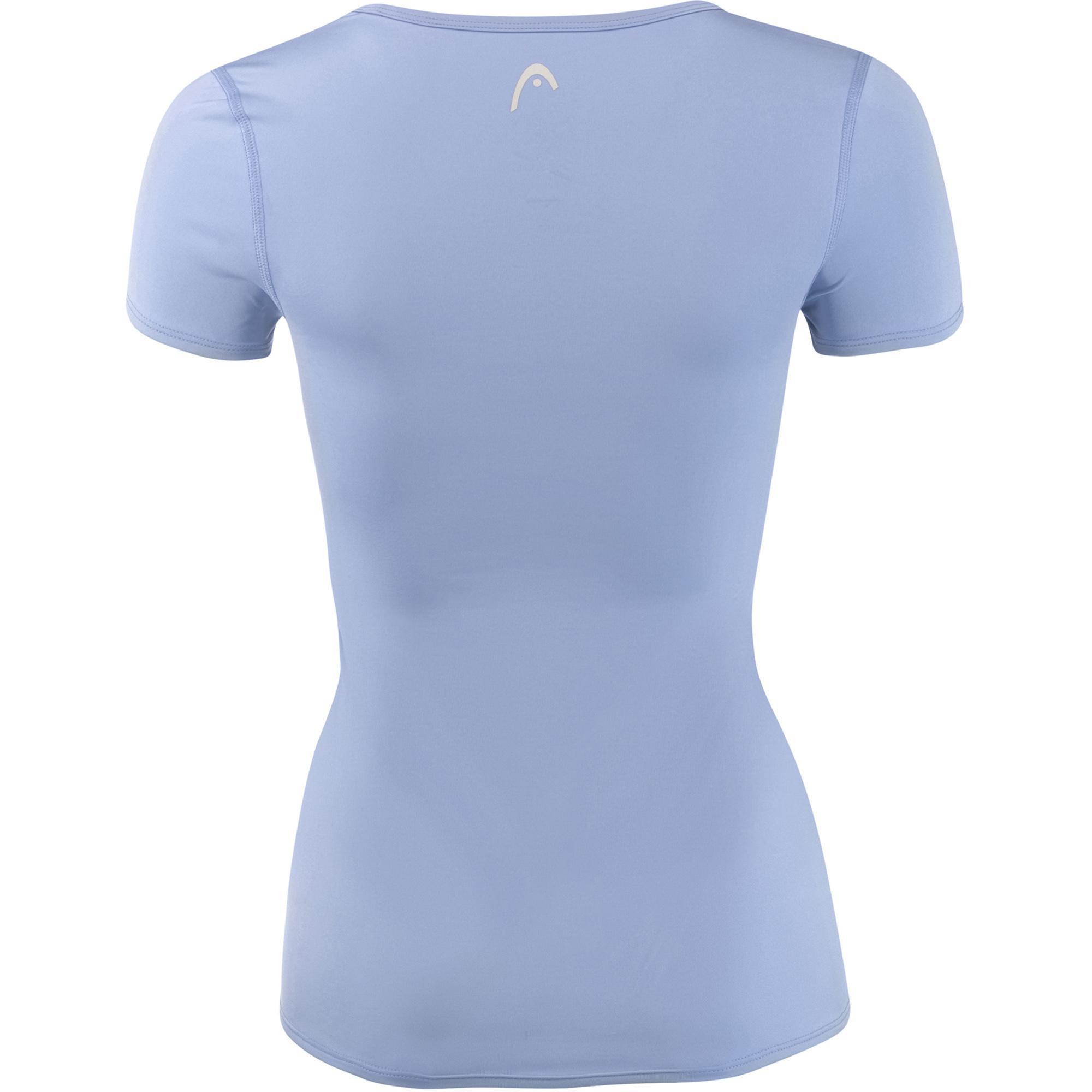 Head Basic Tech T-Shirt Azzurro Donna