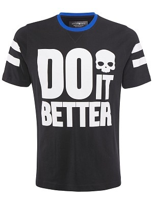Hydrogen T-Shirt Do It Better Nero Uomo