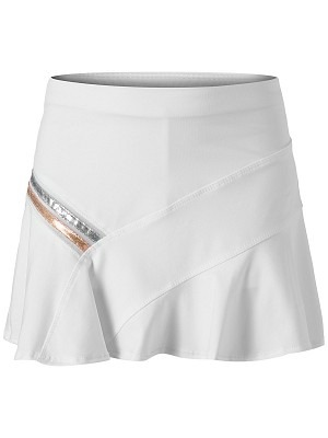 Luck in Love Metallic Stripe Asym Skirt Bianco  Bambina