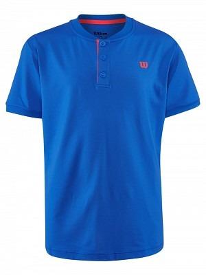 Wilson UWII Henley Polo Shirt Prince Blu Bambino 1
