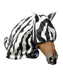 Bucas Fliegenmaske Zebra 1