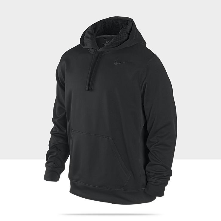 Nike Polyester Fleece Pull Nero Uomo