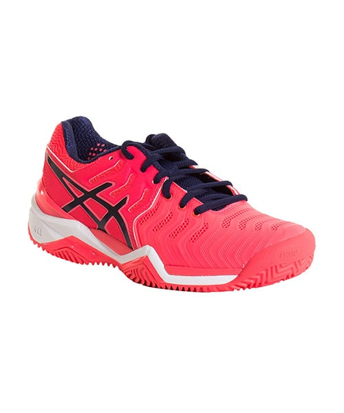 Asics Gel-Resolution 7 Clay Pink-Blu Indaco-Bianco Donna