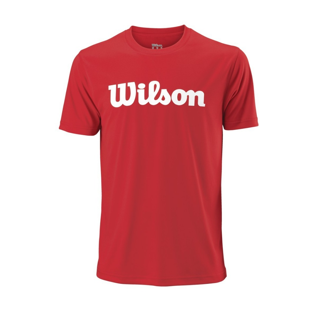 Wilson T-Shirt Script Tech Tee Red Uomo 1