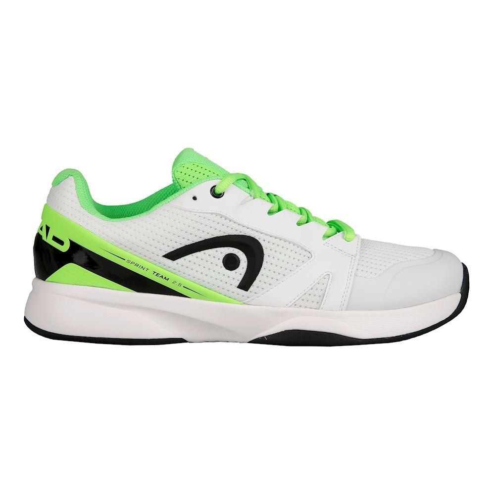 Head Sprint Team 2.5 Bianco-Verde Neon Uomo