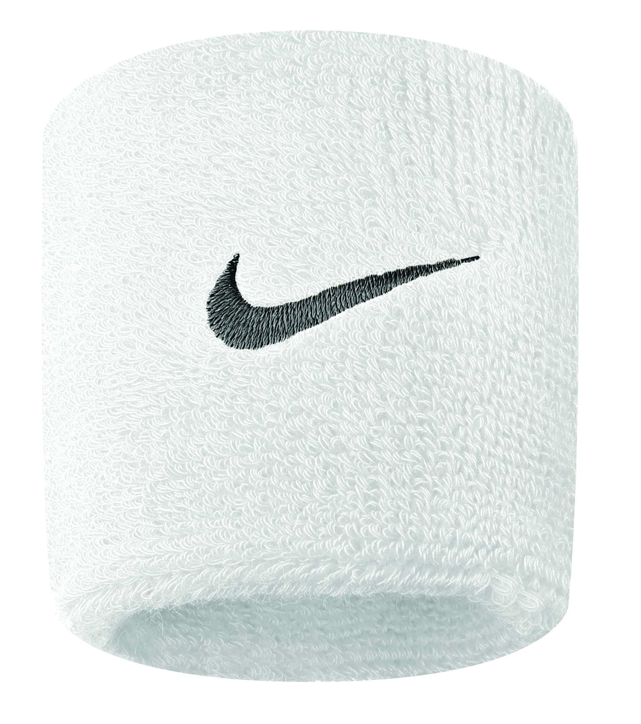 Nike Polsini Bianco Logo Nero (2x)