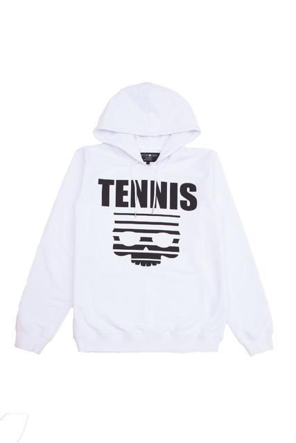 Hydrogen Tennis Skull Hoodie Bianco Uomo