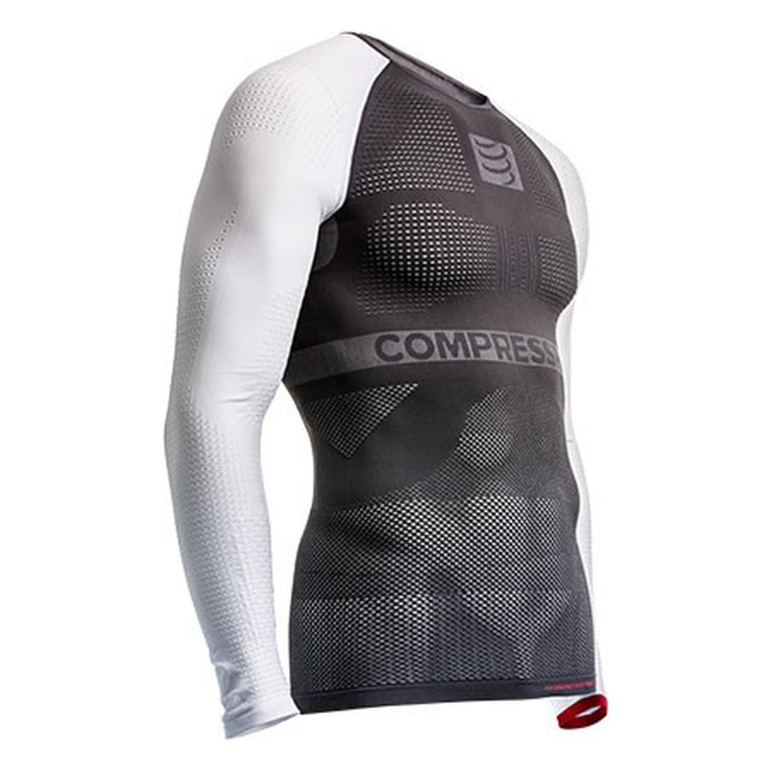 Compressport Multisport Shirt On/Off LS Grigio-Bianco