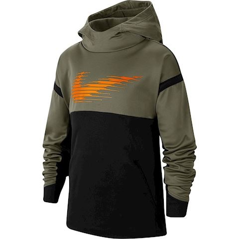 Nike Hoodie Therma Gfx Black-Olive Bambino 1