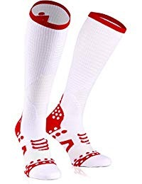 Compressport Full Socks Racing Oxygen Bianco 1
