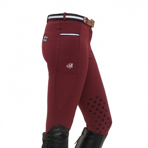 Spooks Knee Grip Burgundy Donna 1