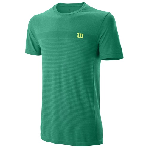 Wilson Competition Seamless Crew Deep Green Uomo 1